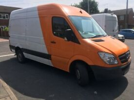 MERCEDES SPRINTER 313CDI,2013,MWB,HI TOP,163K,MOT,1 OWNER,FULL HISTORY,NO VAT,HPI CLEAR.