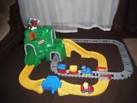 Little Tikes mountain peak road and railway train play set