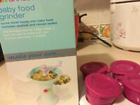 Annabel Karmel food grinder and freezer pop up pots