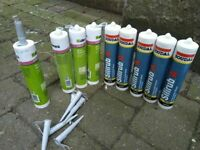 Eight tubes of silicone caulking central London bargain