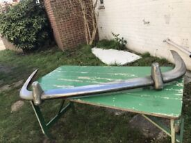 VINTAGE JAGUAR PAIR BUMPERS FOR Mk 2. MID TO LATE 1960,s FOR 3.8S MODEL