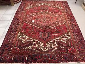 Heriz Rug, Persian Carpet, Handmade Wool ( Shipping Available)