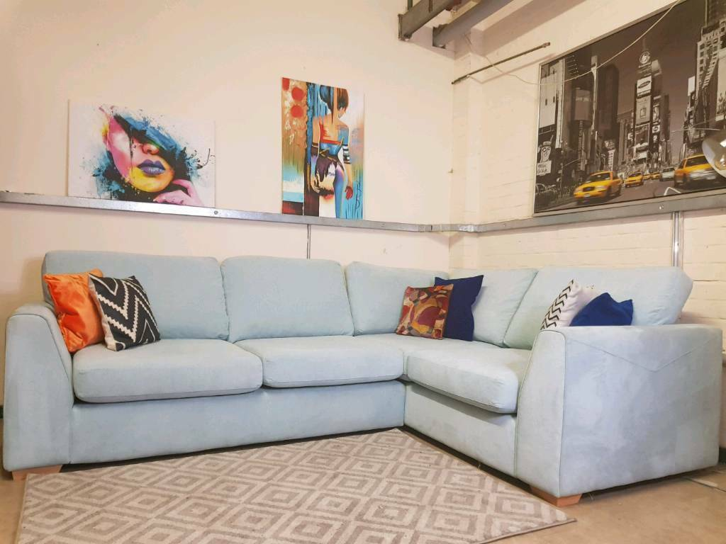 finest selection ada63 28095 DFS Tiki Corner sofa in greyish blue fabric RRP £1540 | in Fishponds,  Bristol | Gumtree