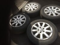 05 VW GOLF MK5 ALLOY WHEEL FULL SET WITH TYRES 15 INC