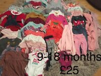 Baby Girl Clothes 9-18 months