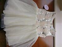 Cream Tulle Dress 3-4 years (Never worn)