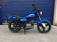 2017 ZONTES TIGER 50cc MOTORBIKE , HPI CLEAR , LOW MILES , GOOD CONDITION 10 MONTHS OLD