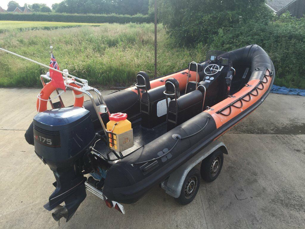 6 5m 21ft humber destroyer rib diving fishing sports for Yamaha fishing boats