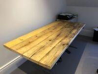 Reclaimed wood desktop / breakfast bar/ sideboard / kitchen worktop / workbench
