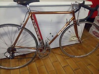 Bicycle road bike,Wilier Triestina 1979,Columbus frame,coppered.