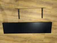 Black floating shelf