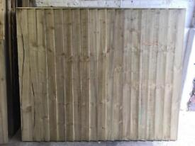 ❄️ Straight Top Pressure Treated High Quality Wooden Garden Fence Panels