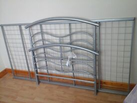 Single bed with a brand new mattress