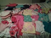 Baby girl 73 piece clothing bundle aged 6-9 months