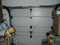 Garage Door sectional insulated complete with 2 fobs fully functional