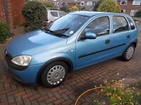 Vauxhall Corsa Comfort 16V - Blue 5 Door Hatchback For Sale