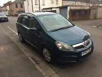 7 seats Vauxhall zafira facelift model 57 reg in good condition px options available
