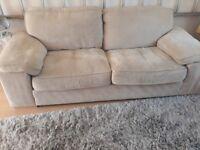 3 seater beige sofa free
