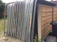 Heras style site security fencing panels temporary fencing