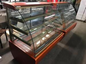 "2 ( 55"" igloo bakery curve glass cake / pastry display fridges only $2695 each !!"