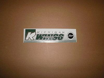 IHL Michigan K Wings Vintage Defunct Bumper Sticker