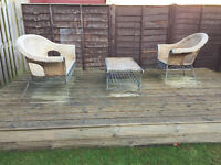 Wicker and Metal Garden furniture