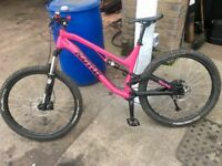 2015 kona process 134 large frame, custom downhill enduro bike,