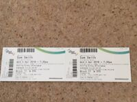 Two Sam Smith tickets- Genting Arena Birmingham