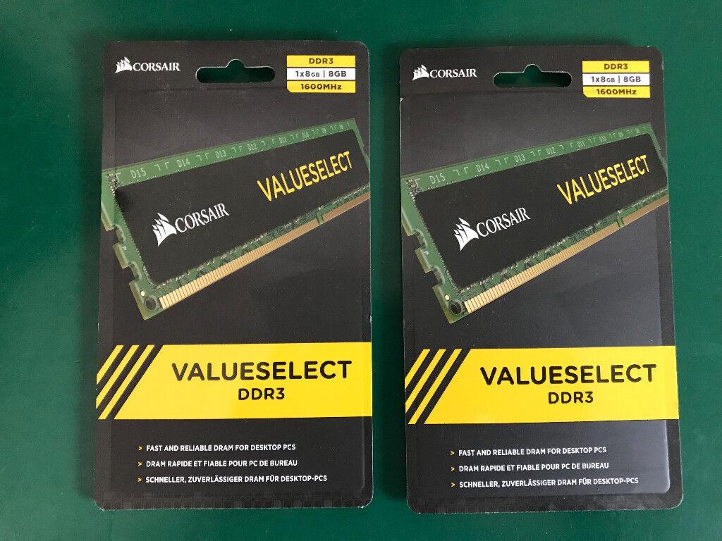Corsair value select 16gb 2x8gb 1600mhz 1.35v ddr3 ram in