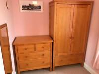 Solid Pine Nursery/Kids Marks & Spencer Wardrobe and Chest of Drawers (£100)