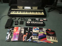Yamaha PSR740 +PSU + 3 Pedals, Discs, Dust cover, Rockbag gig case, Music books