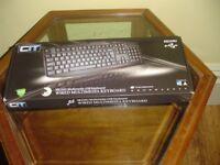 *** CiT KB-250U 8 Keys USB Multimedia Keyboard – Black ***