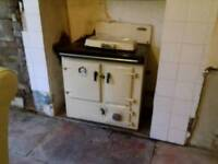 Rayburn solid fuel range with back boiler, like Aga