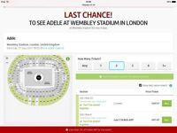 Adele tickets x 4. Saturday 1st July 2017 Wembley, London SOLD OUT