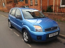 Blue Ford Fusion Zetec 2009 - good condition - full service history - full years MOT
