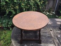 Coffee table with copper top
