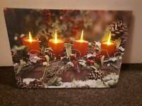 Light up led christmas canvas