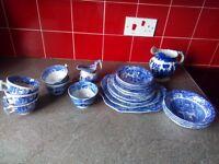 Selection of Spode Italian Blue Crockery