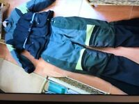 BMW Kalahari 2 piece motorcycle suit with gortex lining waist 36 preowned good cond