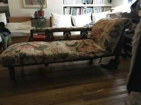 Restoration / reupholstery antique chaise lounge