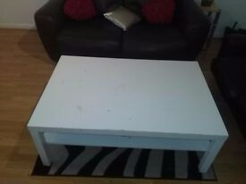 nice ikea coffee table (white)