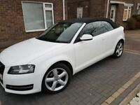 Stunning white Audi a3 convertible £30 tax