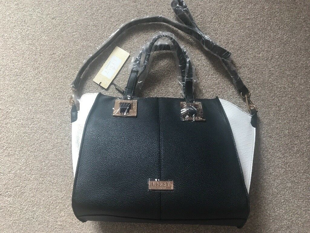 New black & white Lipsy Handbag