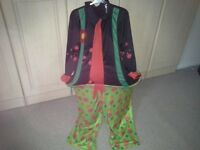 Childs clown fancy dress costume 13 / 14yrs, hooped middle