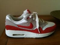 Nike Air Max 1 trainers. Size 6. Brand new, never worn. In original box as new. Canvas & suede upper