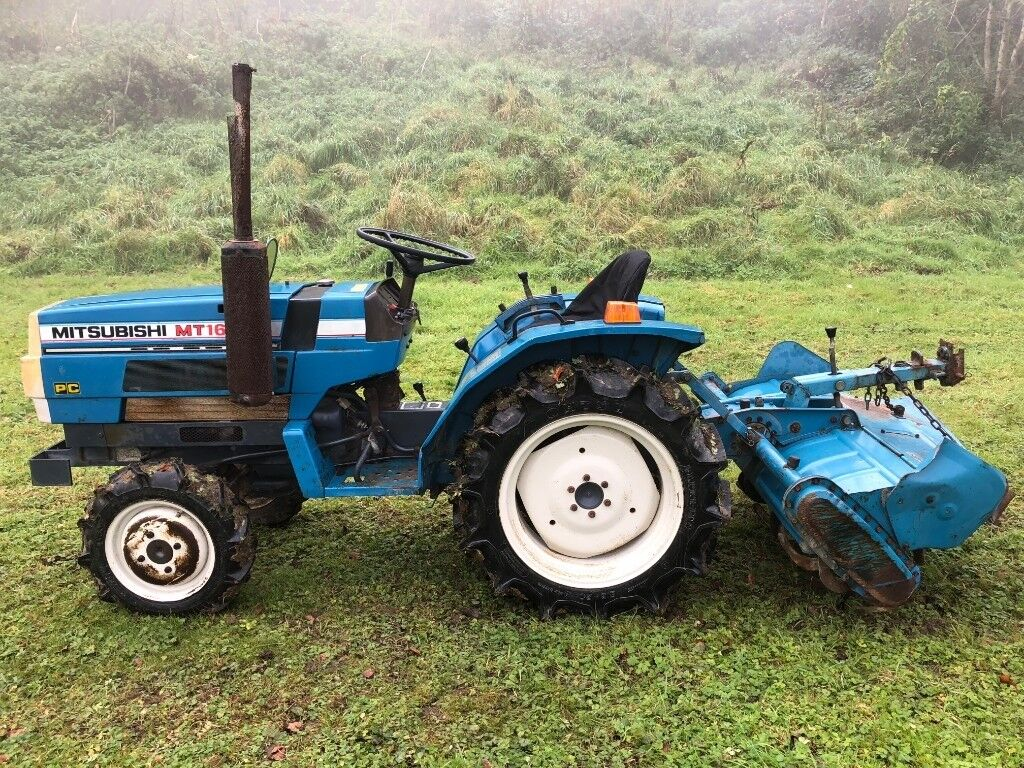 Mitsubishi MT1601D 4WD Compact Tractor with 4ft Rotavator, 18HP, 735 hours  VIDEO | in Gloucester, Gloucestershire | Gumtree
