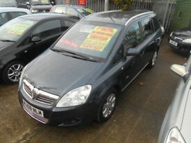 vauxhall zafira 1.6 breeze 5dr 2008 7 seater mpv,68000 miles,full mot on purchase,service history