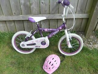 "Girls ""Missy"" Bike Complete with Matching Safety Helmet £15"