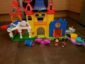 Fisher price mickey mouse playset with fireworks lights and sounds