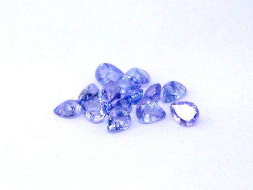 Closeout Lot #103 4x3 - 4.5x3.5 mm Pear Shape Tanzanite